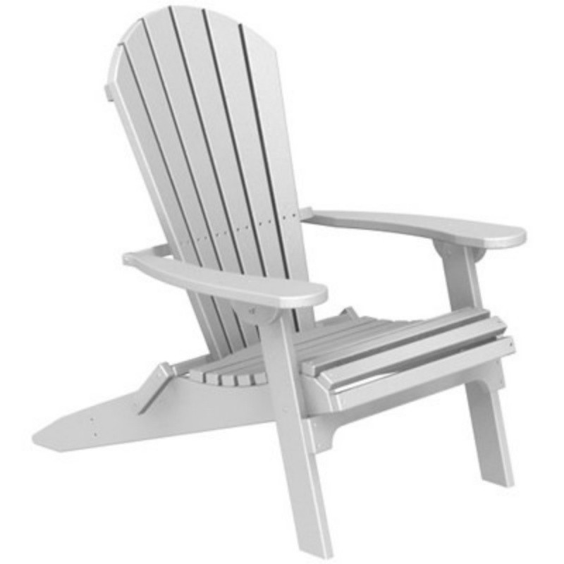 Plastic Wood Seashell Adirondack Chair Folding : White Patio Furniture