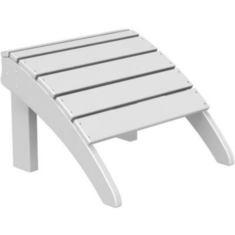 Plastic Wood Seashell Adirondack Chair Ottoman : White Patio Furniture