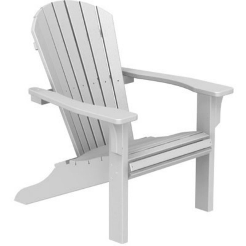 Plastic Wood Seashell Adirondack Chair : White Patio Furniture