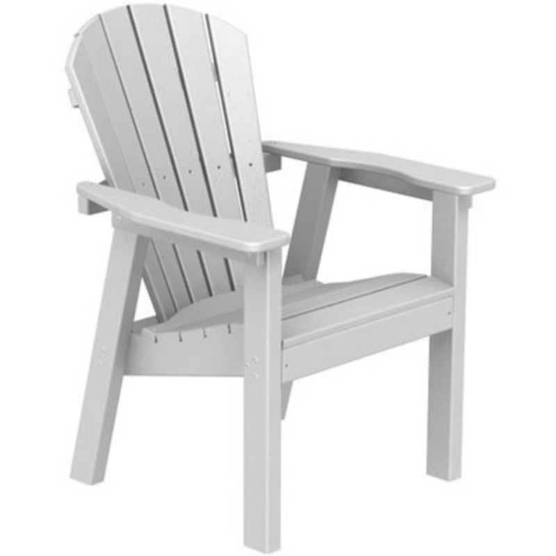 Plastic Wood Seashell Adirondack Dining Chair : White Patio Furniture