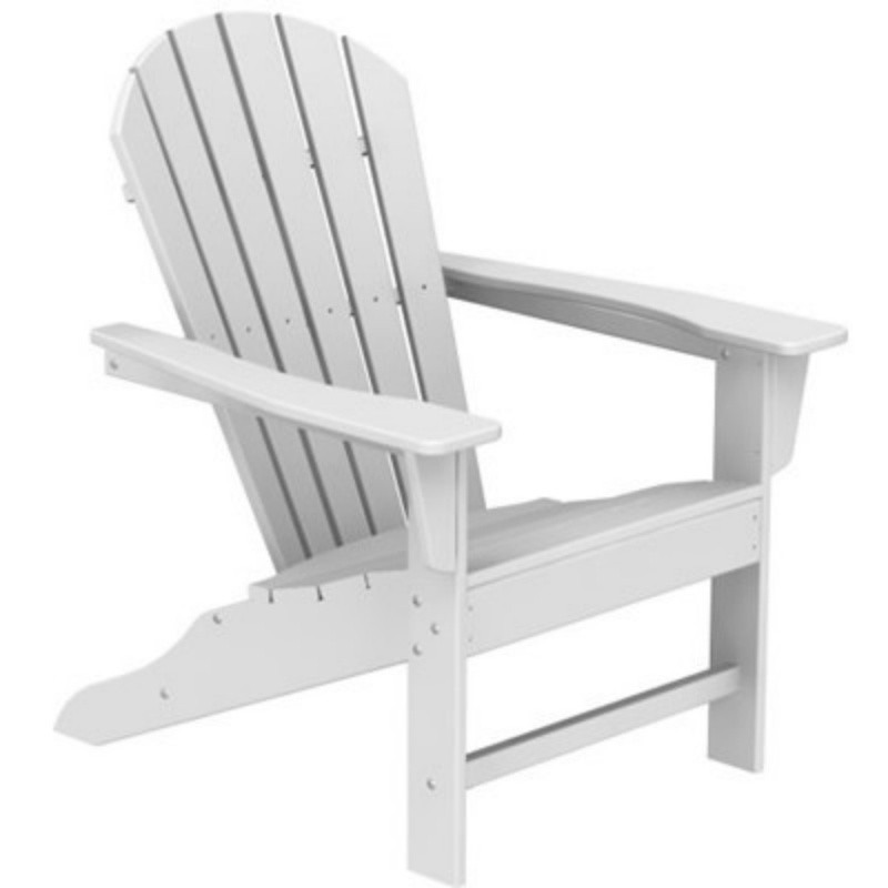 Plastic Wood South Beach Adirondack Chair Classic : White Patio Furniture