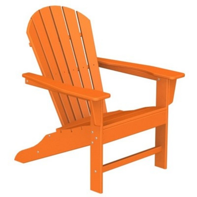 Polywood South Beach Plastic Adirondack Chair Fiesta