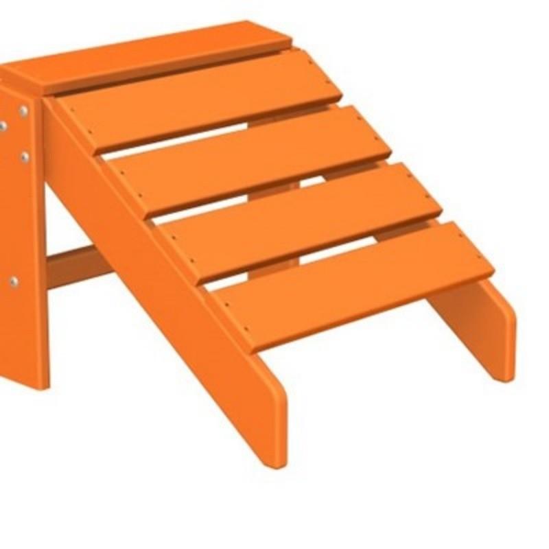 Polywood south beach plastic adirondack chair ottoman fiesta pw sbo20 - Plastic adirondack footrest ...