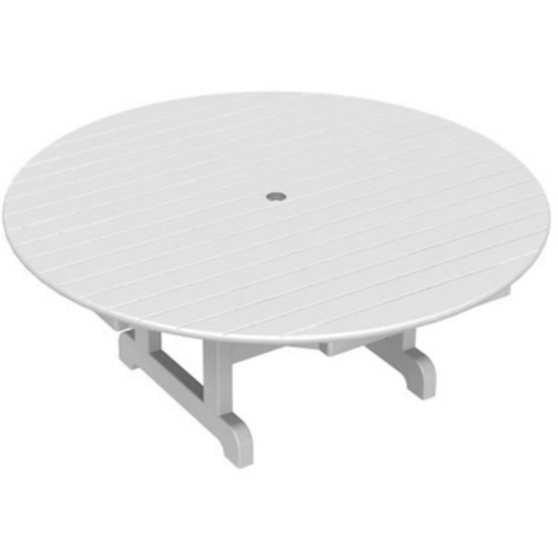 Plastic Wood Round Conversation Table 48 inch