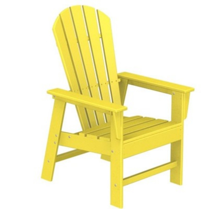 Composite Adirondack Chairs: Polywood South Beach Adirondack Dining Chair Fiesta