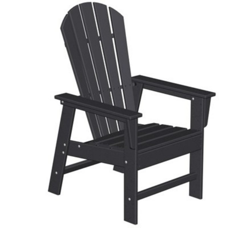 Plastic Wood South Beach Adirondack Dining Chair Classic : White Patio Furniture