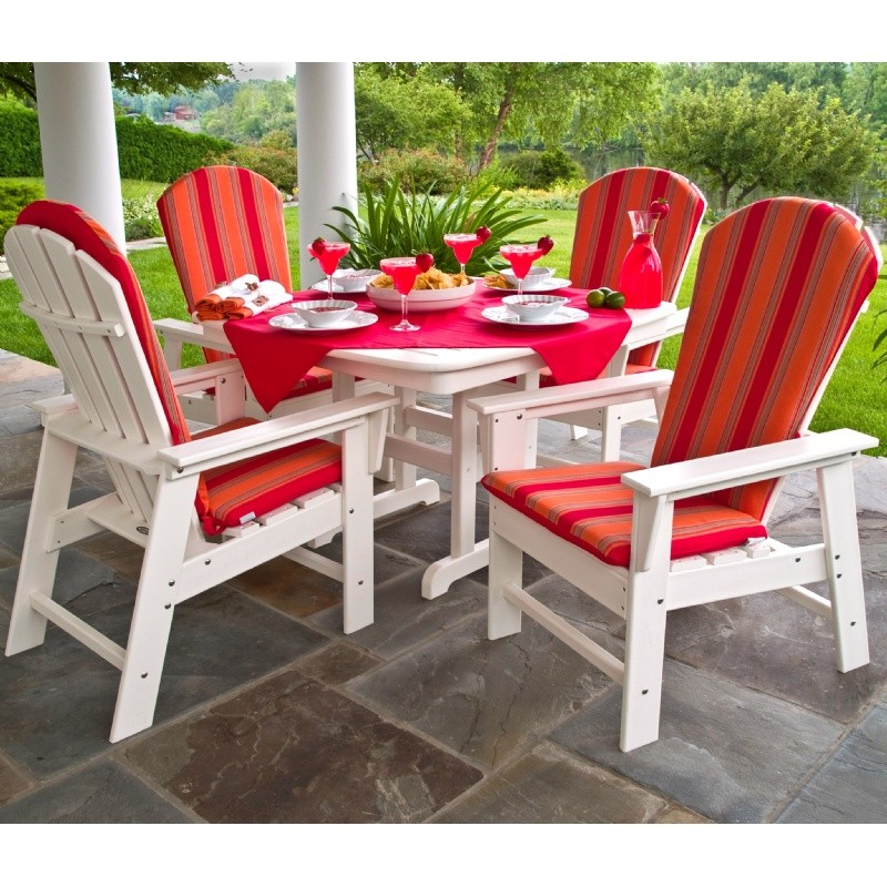 Plastic Wood South Beach Adirondack Dining Set 5 Piece : Pool Furniture Sets