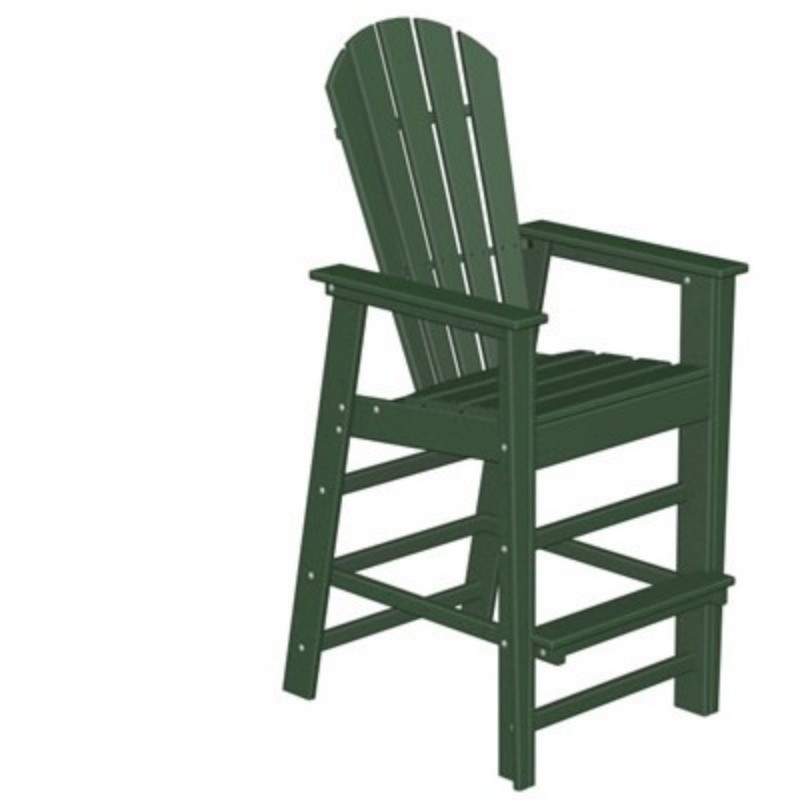 Polywood South Beach Plastic Bar Chair Classic