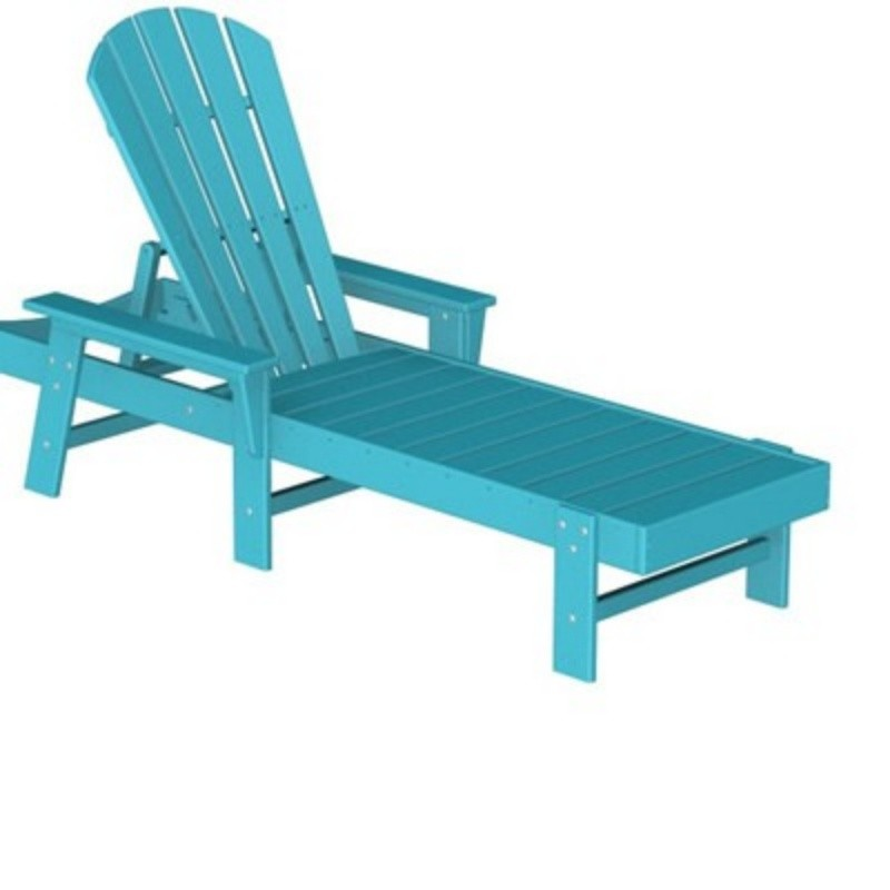 Commercial Polywood Recycled Plastic South Beach Chaise Lounge Fiesta