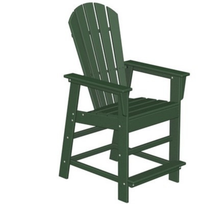 Plastic Wood South Beach Counter High Chair Classic : Adirondack Chairs