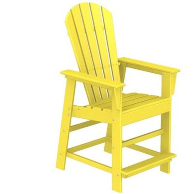 Plastic Wood South Beach Counter High Chair Fiesta : Adirondack Chairs