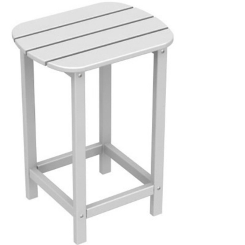 Plastic Wood South Beach High Side Table 15 x19 Classic : White Patio Furniture