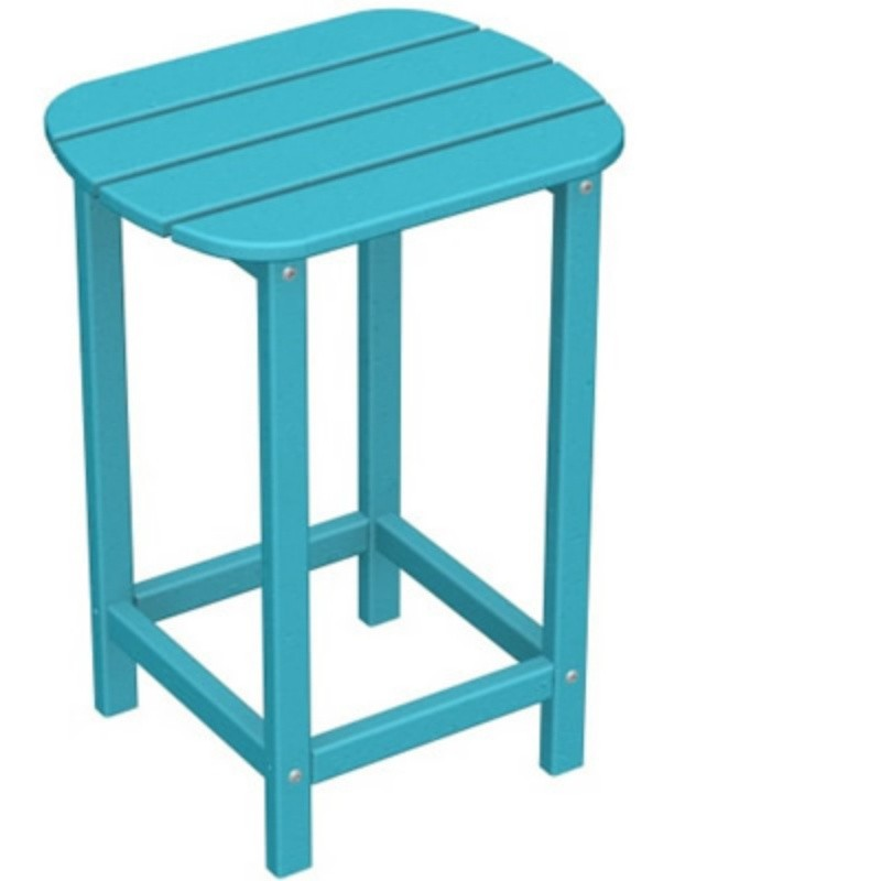 Plastic Wood South Beach High Side Table 15 x19 Fiesta : Plastic Outdoor Tables