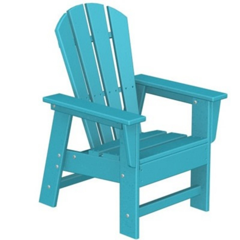 Recycled Plastic Chairs, Outdoor, Patio, Pool, Dining: Plastic Wood South Beach Kids Chair Classic Fiesta
