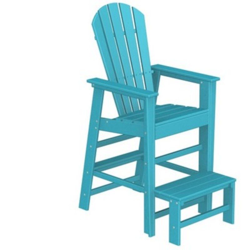 Plastic Wood South Beach Life Guard Chair Fiesta : Adirondack Chairs