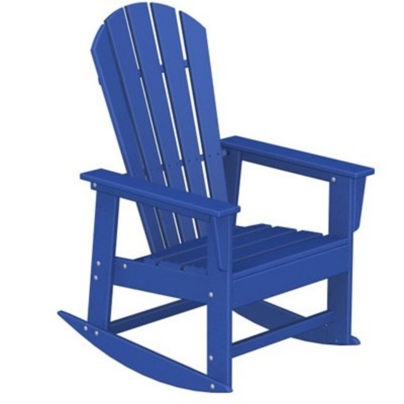 Composite Adirondack Chairs: Polywood South Beach Outdoor Rocker Chair Fiesta