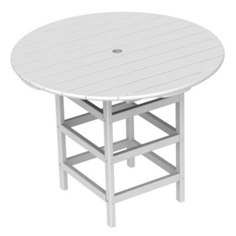 recycled plastic south beach round dining table 40 classic