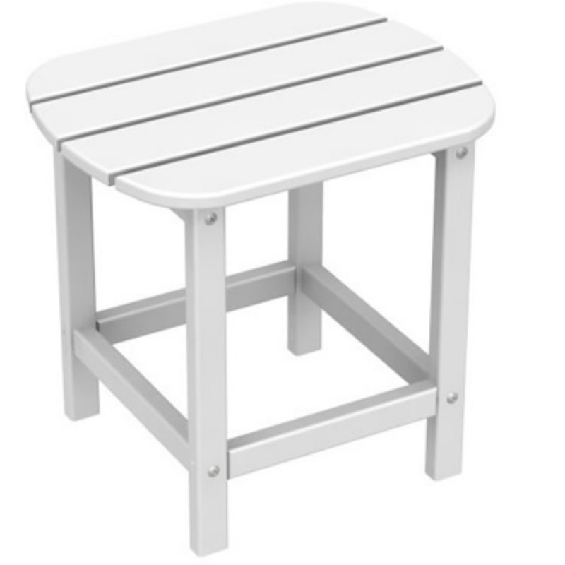 Plastic Wood South Beach Side Table 15 x19 Classic : White Patio Furniture