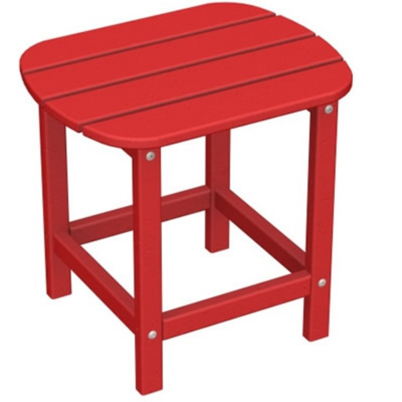 Plastic Wood South Beach Side Table 15 x19 Fiesta : Plastic Outdoor Tables