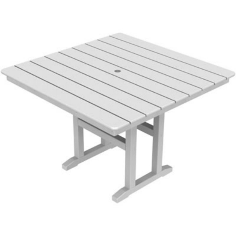 recycled plastic square dining table 42 inch