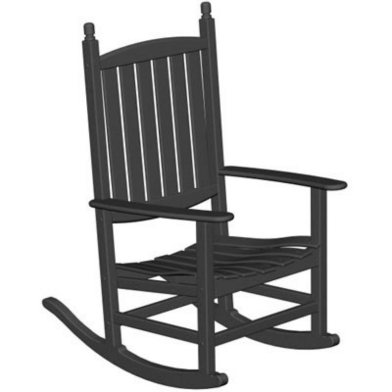 Heavy Duty Folding Outdoor Rocking Chair: Polywood Tradewind Outdoor Rocking Chair