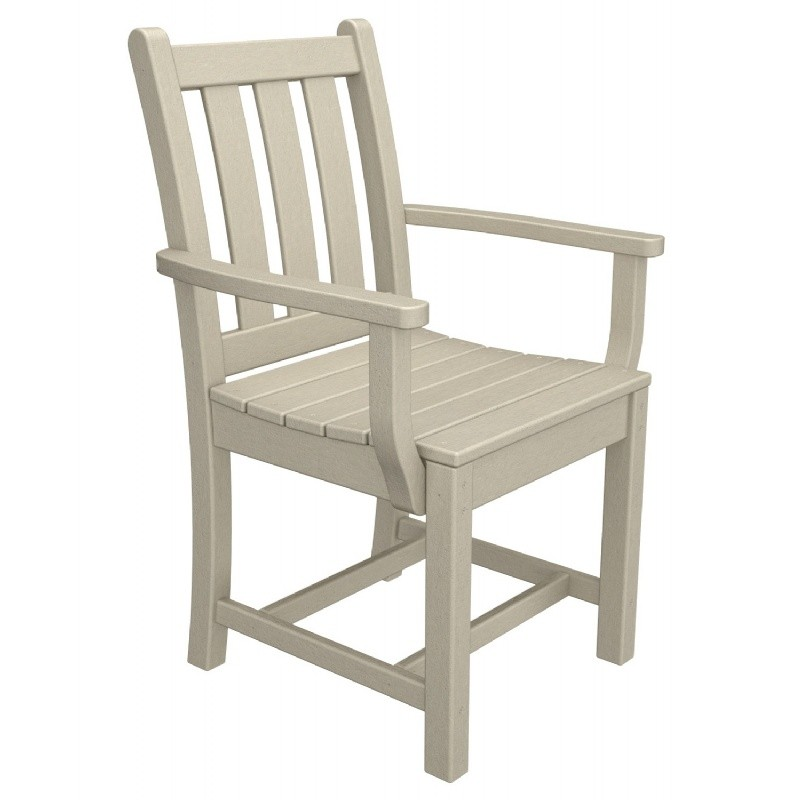 Plastic Wood Traditional Outdoor Dining Armchair