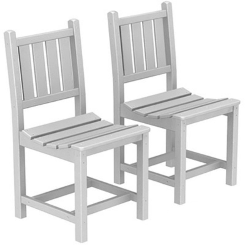 Plastic Wood Traditional Outdoor Dining Chair : Dining Chairs