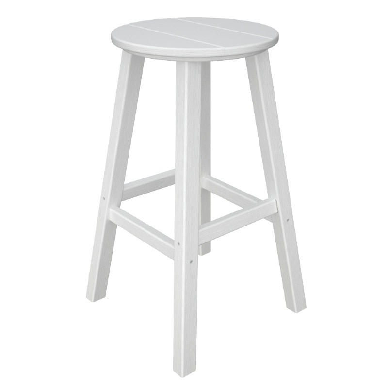 POLYWOOD® Traditional Round Outdoor Bar Stool