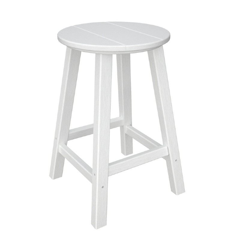 Recycled Plastic Traditional Round Outdoor Counter Stool