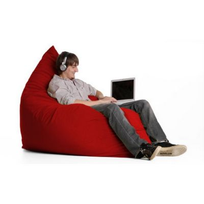 Jaxx Pillow Sac Bean Bag Chair Microsuede Cinnabar FL-ZJF-PIL-MS02