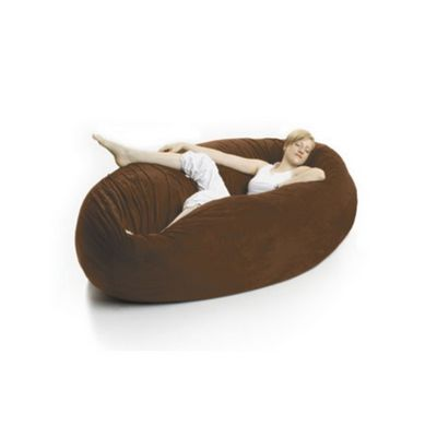 Zak Cocoon Bean Bag Chair Microsuede Chocolate FL-ZK-COON-MS05