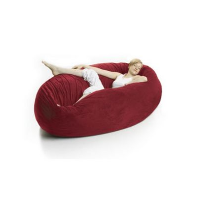 Zak Cocoon Bean Bag Chair Microsuede Cinnabar FL-ZK-COON-MS02