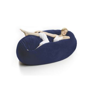 Zak Cocoon Bean Bag Chair Microsuede Navy Blue FL-ZK-COON-MS04