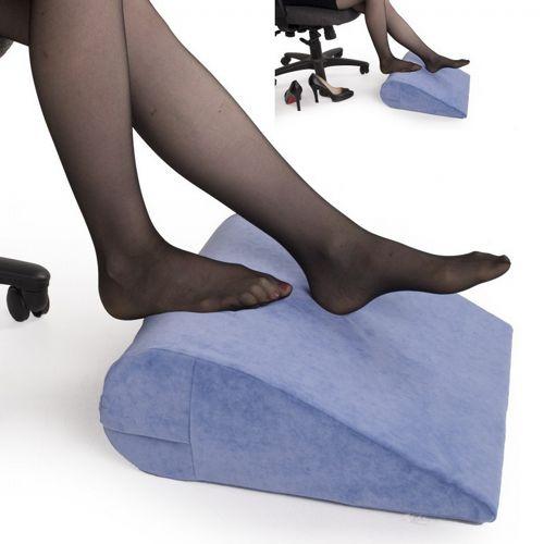 3 Form Under Desk Foot Rest Pillow Light Blue Fl 3 Form