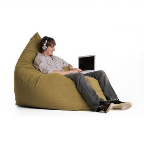 Jaxx Pillow Sac Bean Bag Chair Twill Khaki Fl Zjf Pil Tw08