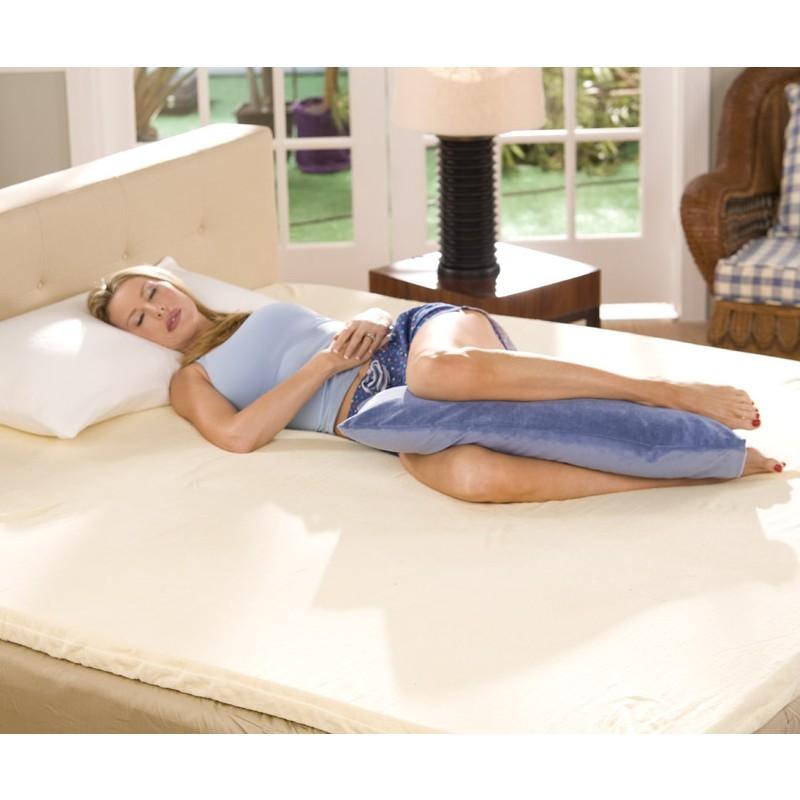 Leg Rest Pillow Light Blue Fl Ava Bp24 J01 Bedrestsmart Com