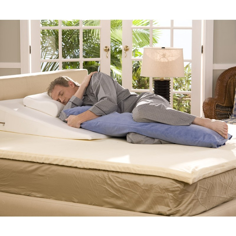 Purple Bed Rest Pillow: Avana Large Body Rest Pillow 50 inch Beige