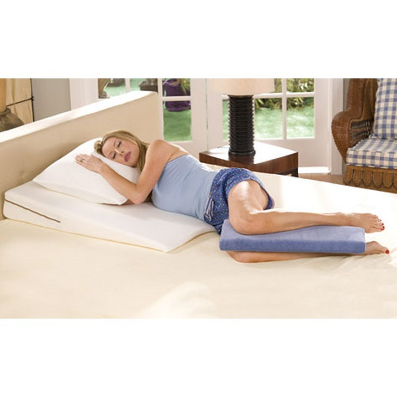 Side Sleeper Memory Foam Leg Rest Pillow Beige