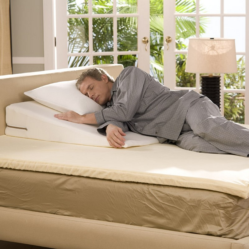 Home & Garden Recent Bestsellers: Bed Rests & Pillows: Avana Slant Memory Foam Bed Rest Pillow King 38x38x7