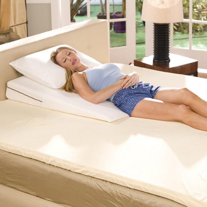 wedges sleeping on memory foam bed wedge rest cushion king size 38x6 fl slant 38 6