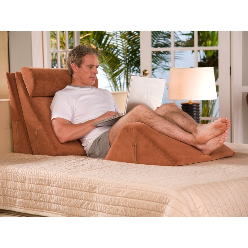 Memory Foam Bed Rest Wedge System Tan