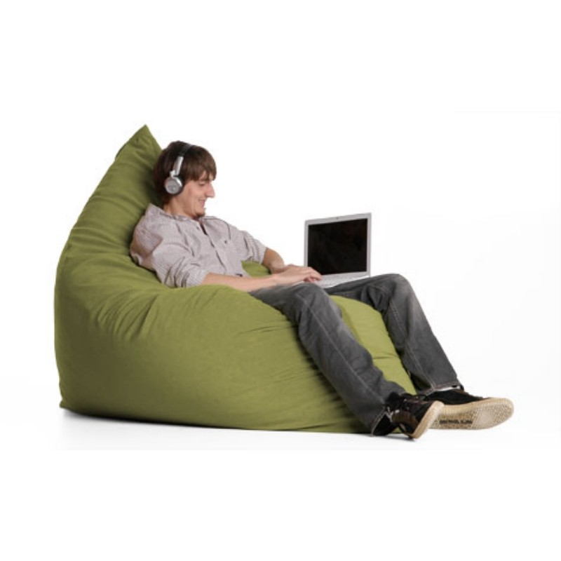 Bean Bag Chairs: Pillow Bean Bag Chair Apple Green