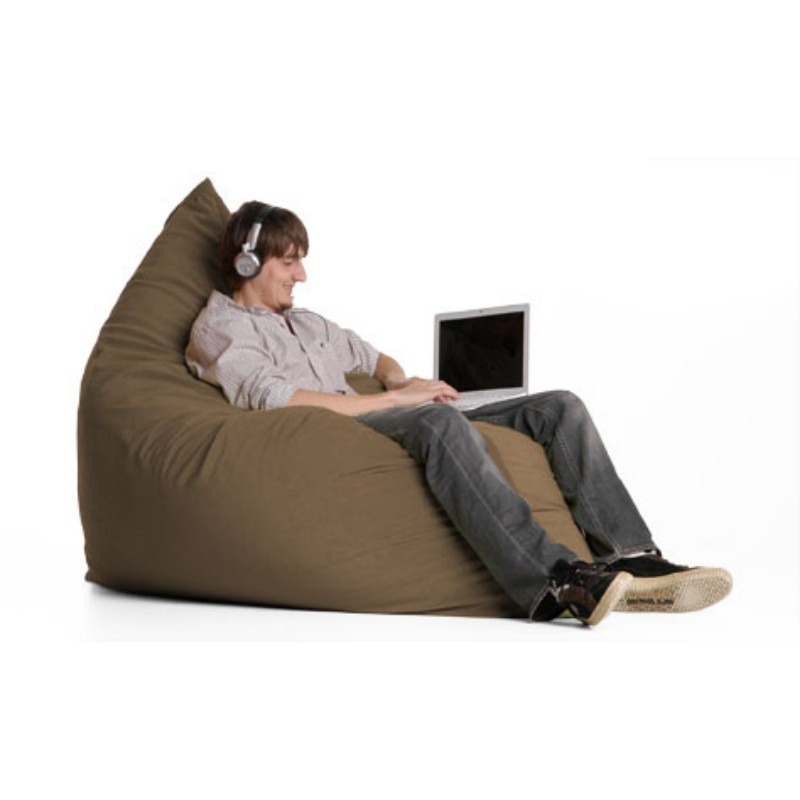 Bean Bag Chairs: Pillow Bean Bag Chair Crease Buff