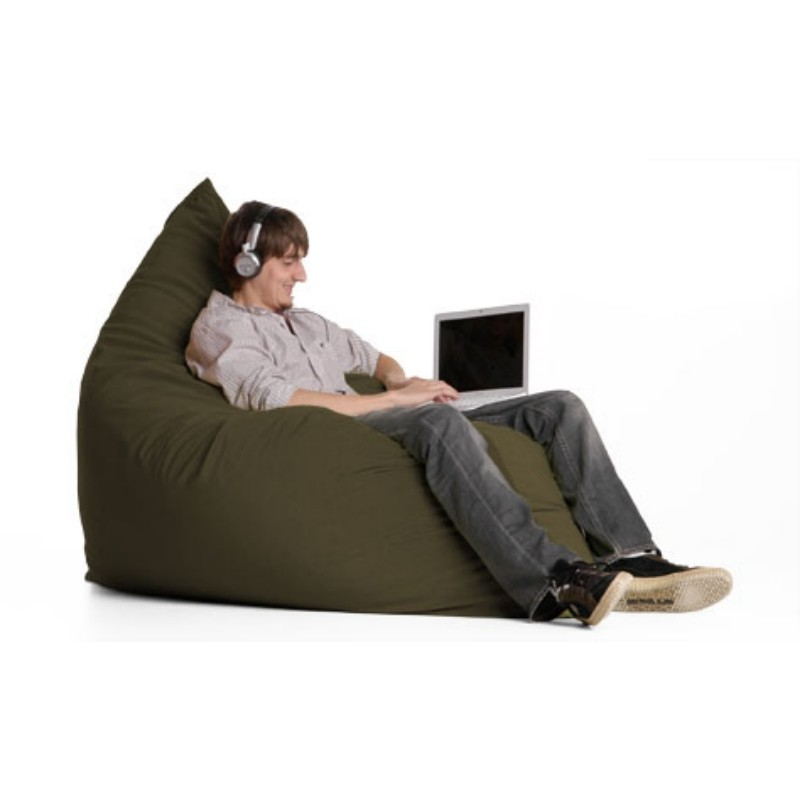 Bean Bag Chairs: Pillow Bean Bag Chair Crease Olive