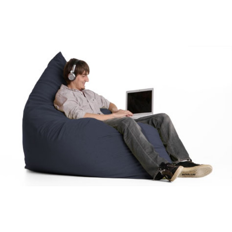 Bean Bag Chairs: Pillow Bean Bag Chair Crease Slate
