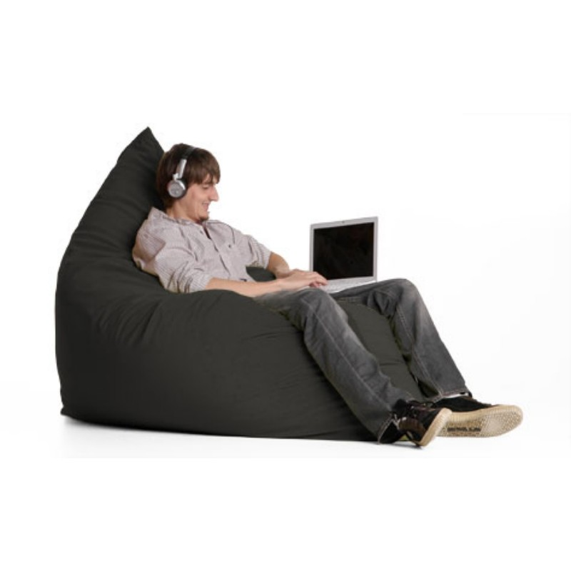Bean Bag Chairs: Pillow Bean Bag Chair Microfiber Black