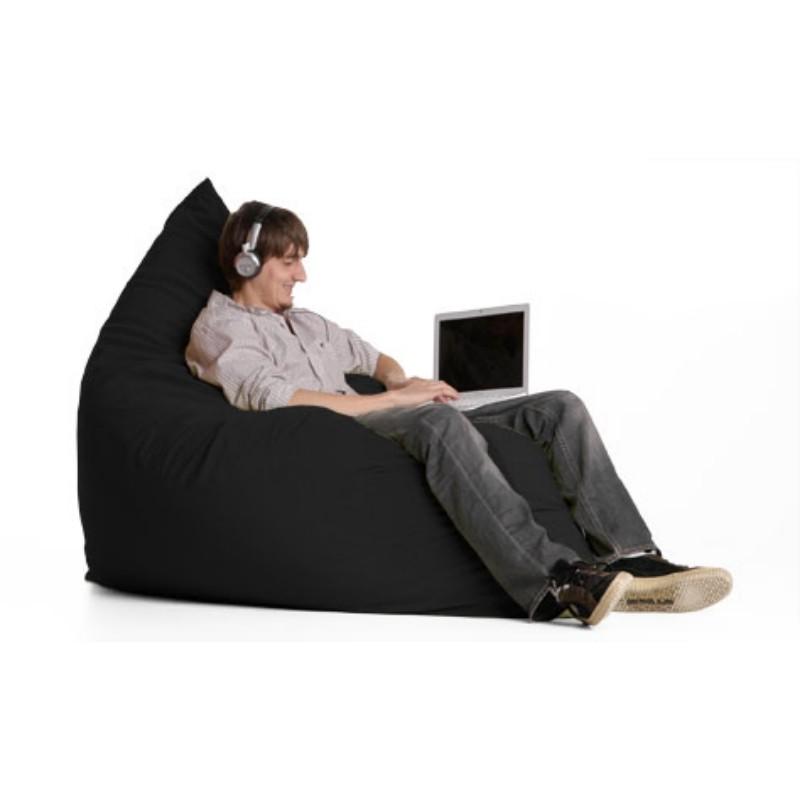 Jaxx Pillow Sac Bean Bag Chair Microsuede Black