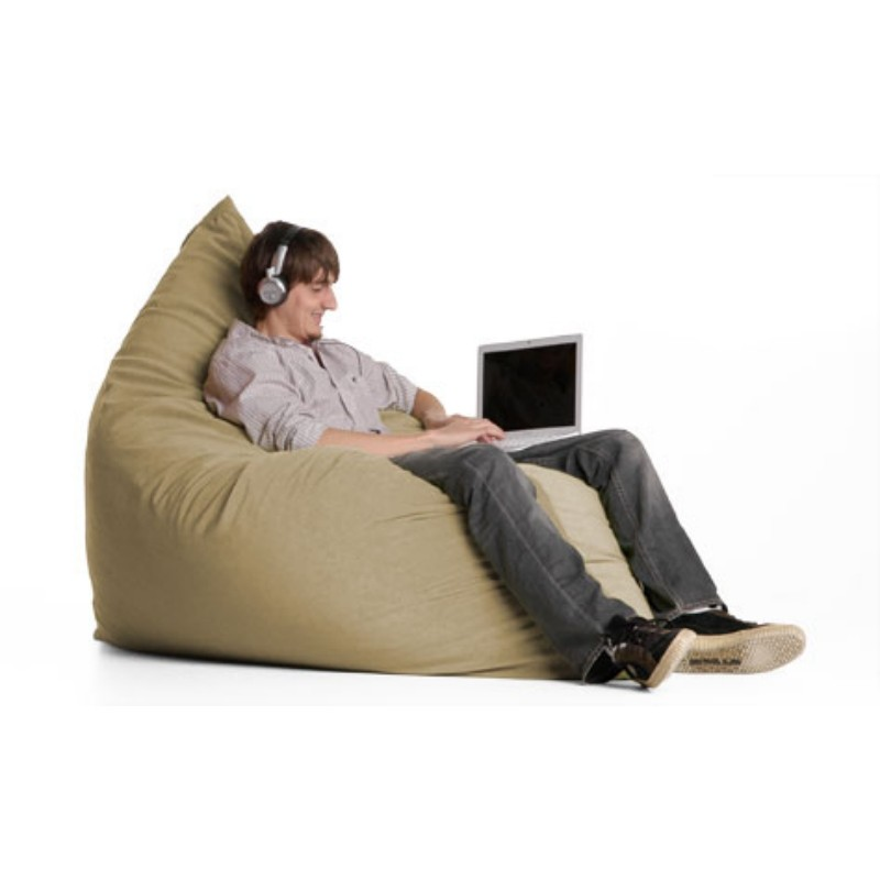 Bean Bag Chairs: Pillow Bean Bag Chair Microsuede Camel