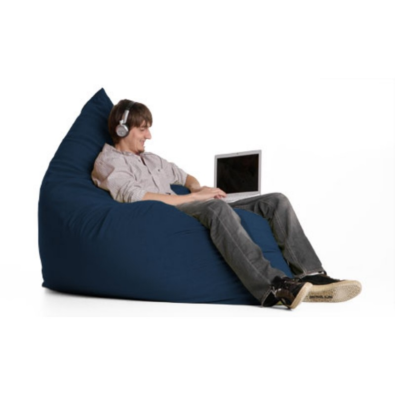 Blue Bean Bags: Pillow Bean Bag Chair Microsuede Navy Blue