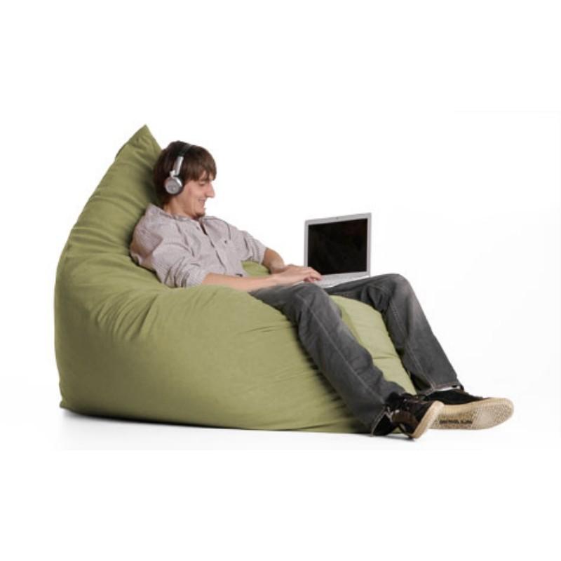 Jaxx Pillow Sac Bean Bag Chair Microsuede Sage